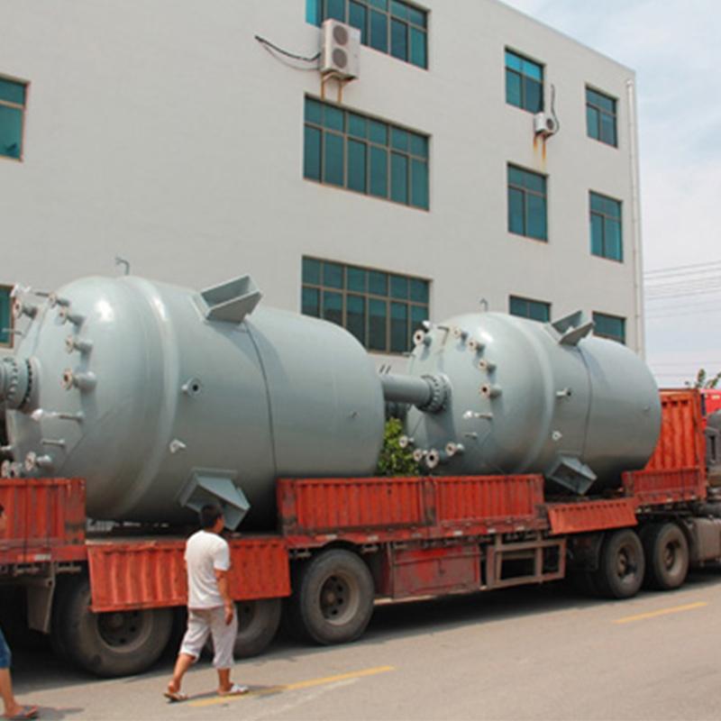 广东珠海-2台15000L磁力驱动反应釜项目